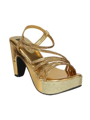 Mango People Bls-038-Gd Golden Women Heels