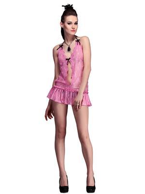Belle Nuits BN30009DP Dark Pink Women Net Nighty