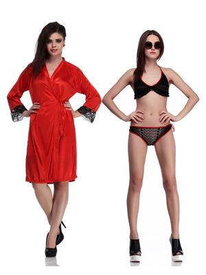 Belle Nuits BN5141004B-BNS0016RROBE Black Women Nightwear