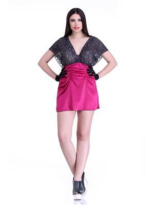Belle Nuits BN5190041RA Pink Women Poly Sat Nighty