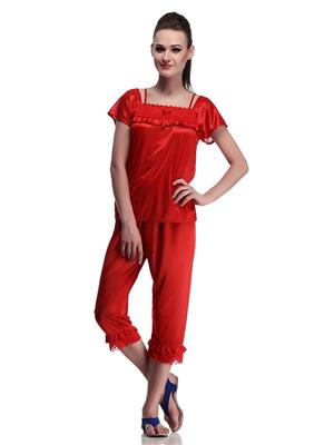 Belle Nuits BNCP1910033R Red Women  Nighty and Capri Set