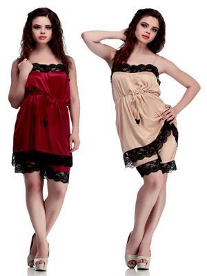 Belle Nuits BNN0070028CH-BNN0070028G Multicolored Women Nightwear