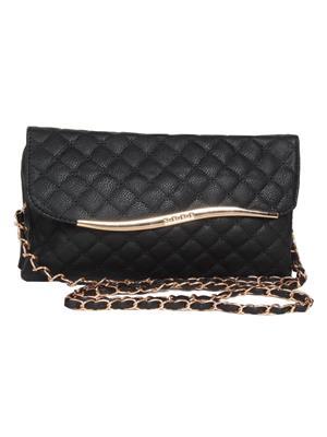 Lee Italian BNS_SLBGC010 Black Women Sling Bag