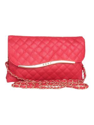 Lee Italian BNS_SLBGC010 Red Women Sling Bag