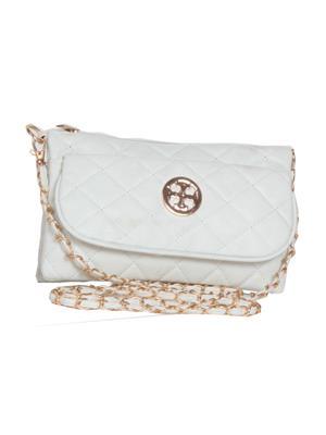 Lee Italian BNS_SLBGC010 White Women Sling Bag
