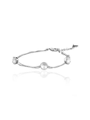 Mahi Fashion Jewellery  Solitaire Charm White Stone Bracelet