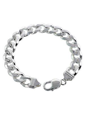 Alpasara Jewells Bracecur19 Silver Men Bracelet