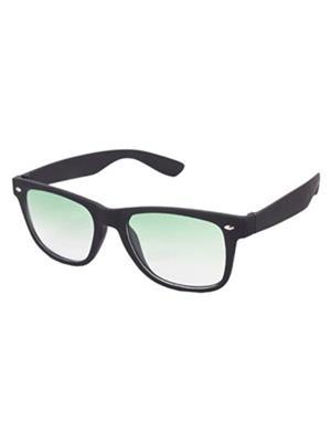Backley Bs-1609 Black And Green Wayfarer Unisex Sunglass