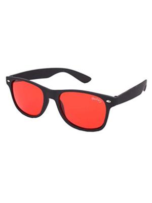 Backley Bs-1611 Black And Red Wayfarer Unisex Sunglass