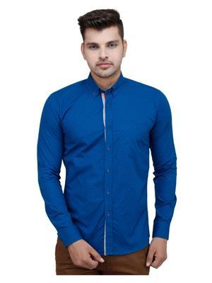 Brunosantae BS1592 Blue Men Casual Shirt