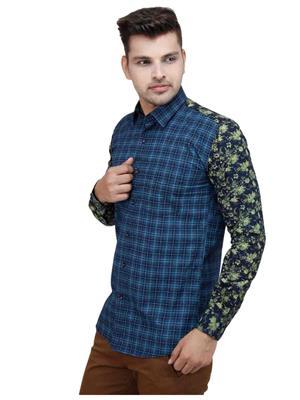 Brunosantae BS1622 Blue Men Casual Shirt