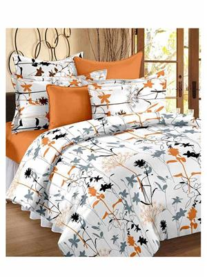 Always Plus Bs517 Multicolored Double Bedsheet With 2 Pillow Covers