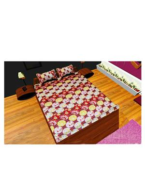 Always Plus Bs664 Multicolored Double Bedsheet With 2 Pillow Covers