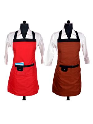 Switchon BST-RED-BRWN02 Multicolored Apron Combo