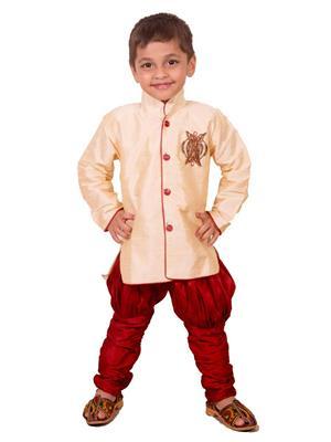 Deepak N Divya Bsw0032 Beige Boys  Serwani