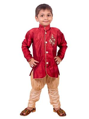 Deepak N Divya Bsw0035 Maroon Boys Serwani