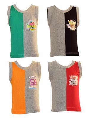 Lilsugar Bv001 Multicolored Boy Vest Set Of 4