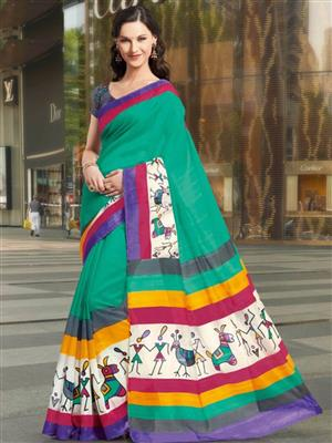 Brijrajs 11451 Green Saree