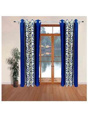 SAI ARPAN BluePatti-7-1 Blue Door Curtain