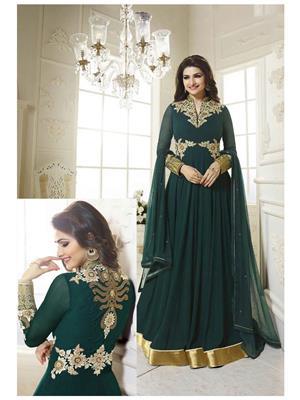 Onlyfashion Bridal Green Women Salwar Suit