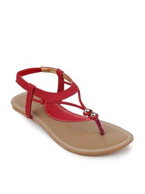Promotions Glamwalk Women Flats Red 2154704 WC
