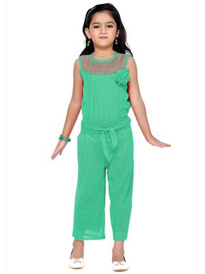 Aarika C120GRN Green Girl Jumpsuit