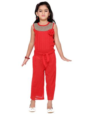 Aarika C120RD Red Girl Jumpsuit