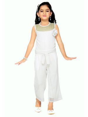 Aarika C120WHT White Girl Jumpsuit