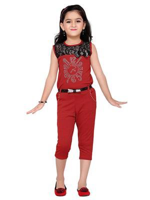 Aarika C133RD Red Girl Jumpsuit