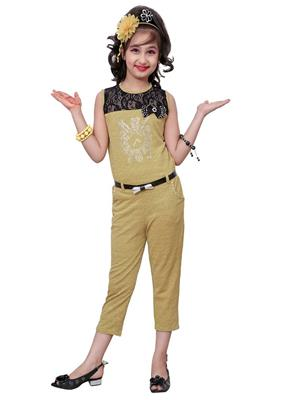 Aarika C133YLW Yellow Girl Jumpsuit