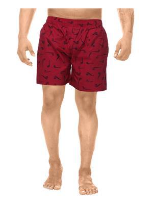 Clickroo CAWS0040S Red Men Shorts