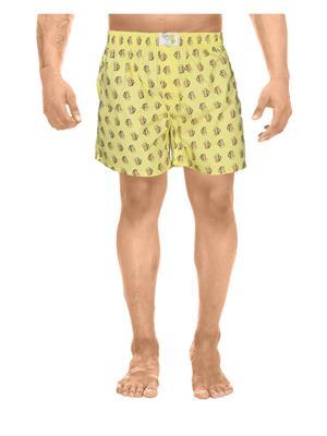Clickroo CAWS0045S Yellow Men Shorts