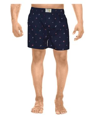 Clickroo CAWS0121S Navy Blue Men Shorts