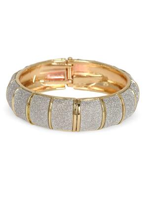 Crunchy Fashion CFB0056 Gold Antique Gold Women Bangle
