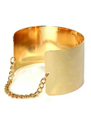 Crunchy Fashion CFB0075  Golden Cuff Women Bangle