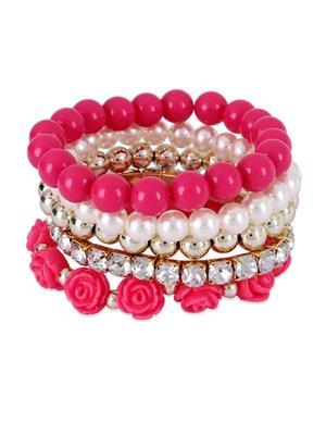 Crunchy Fashion CFB0096  Roses Bracelet Set
