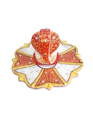 Chitrahandicraft Multicolor  Marble Flower Ganesh