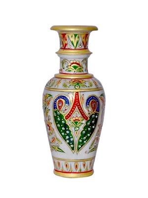 Chitrahandicraft Multicolor Marble Flower Vase