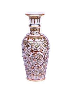 Chitrahandicraft Multicolor Marble Flower Pot