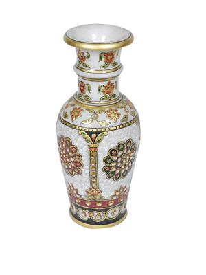 Chitrahandicraft Multicolor Marble Flower Pot