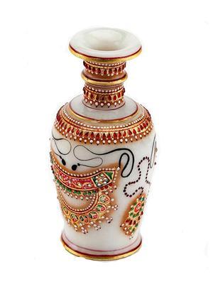 Chitrahandicraft Multicolor Marble Flower Vase