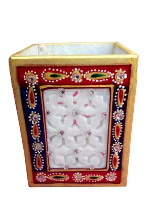 Chitrahandicraft Multicolor  Marble Pen stand
