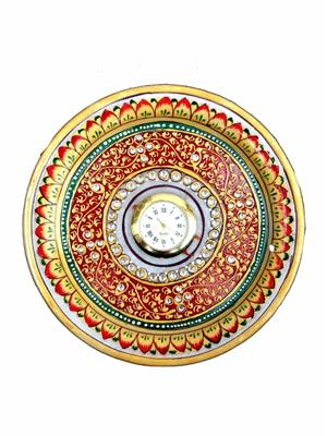 Chitrahandicraft Multicolor  Marble Round Watch