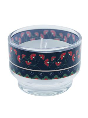 Kolorobia CHTU08 Red Flowers Candle Holder