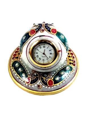 Chitrahandicraft Multicolor  Marble Table Clock