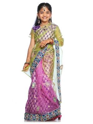 SareeGalaxy CKIC126 Purple Girl Saree