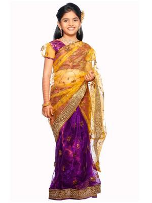SareeGalaxy CKIC138 Purple Girl Saree