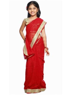 SareeGalaxy CKIC216 Red Girl Saree