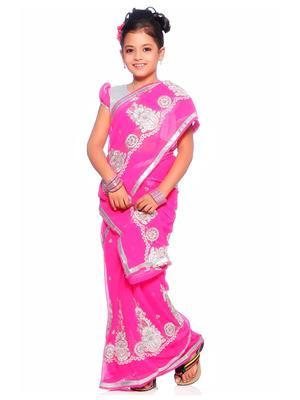 SareeGalaxy CKID137R Pink Girl Saree