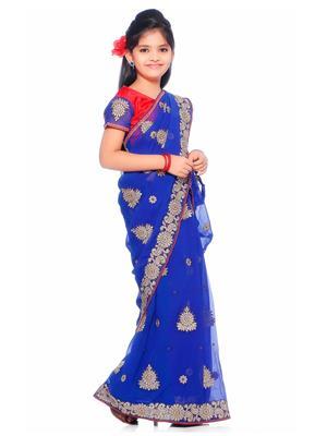 SareeGalaxy CKID147B Blue Girl Saree